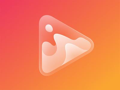Player Icon play icon lava logo © yoga perdana yp glass