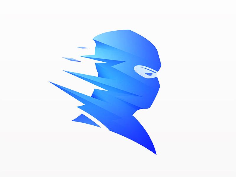 Shinobi visual identity clean logo brand design graphic design identity logo vector symbol mark brand gradient logo modern logo simple logo logo design logo designer branding illustration logo © yoga perdana yp ninja