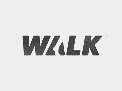 WALK Logo branding type typography simple yp © yoga perdana logo walk