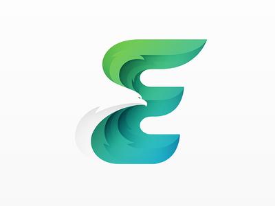 E eagle e logo © yoga perdana yp