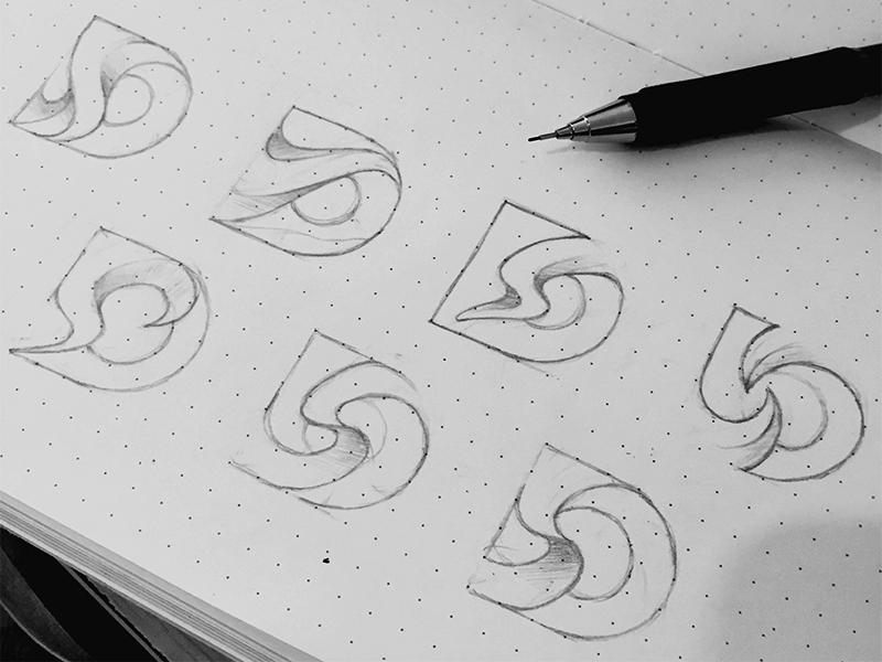 D+S Logo Sketch yp © yoga perdana logo