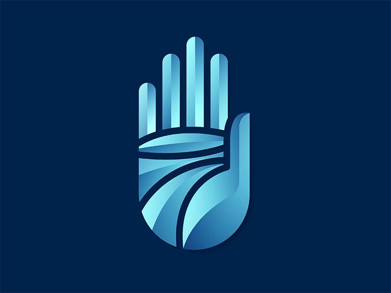 Silver Hand Logo yp © yoga perdana logo