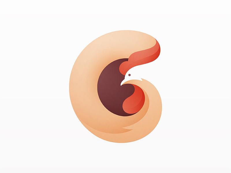 Rooster yp © yoga perdana logo