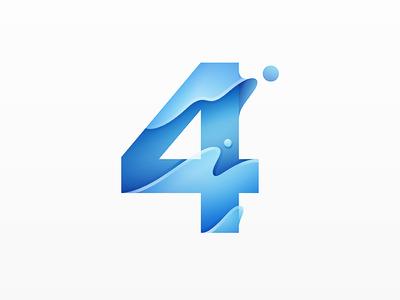 4 Logo 4 four number type logo yp © yoga perdana