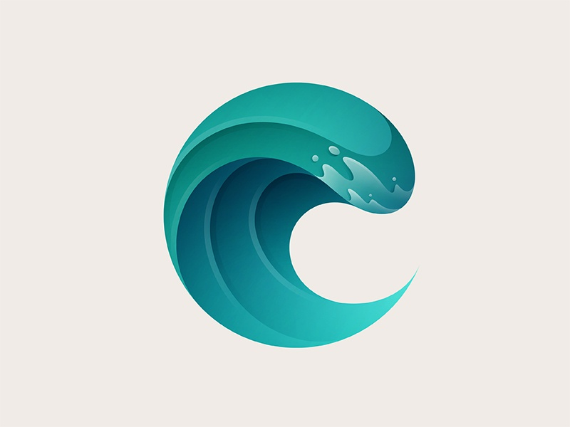Big Wave Logo logo design design wave branding icon vector illustration logo yp
