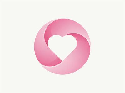 Heart Logo love heart icon logo yp © yoga perdana
