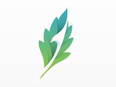 Leaf + Eagle Logo logo yp © yoga perdana