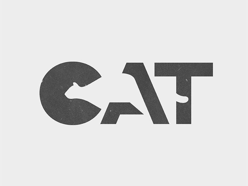 CAT Logo cat design typography mark branding animal type illustration logo © yoga perdana yp