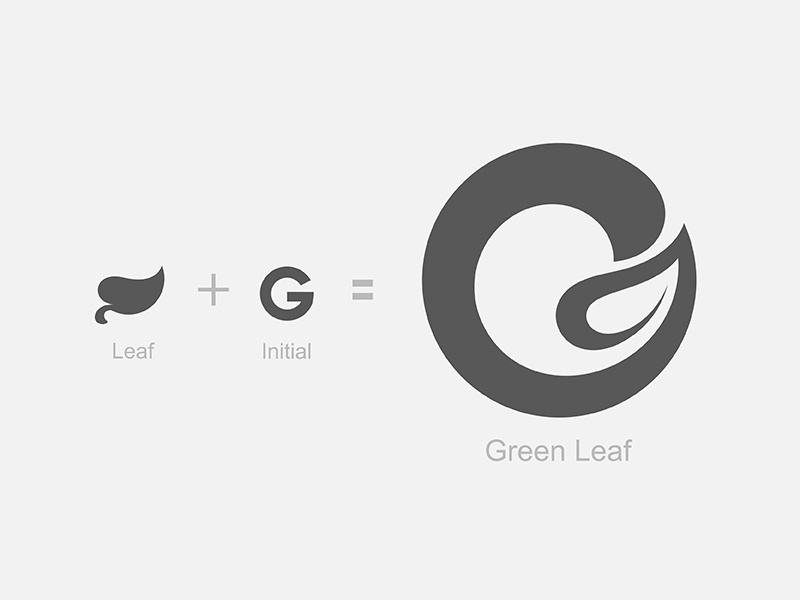 Green Leaf Logo leaf type logo yp © yoga perdana
