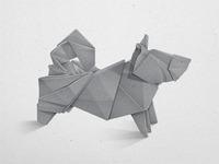 Siberian Husky Origami