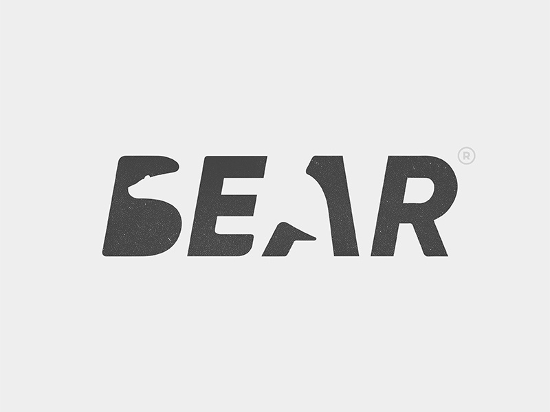 Bear Logo bear typography animal type logo yp © yoga perdana