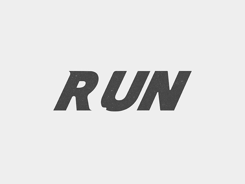 run logo by yoga perdana