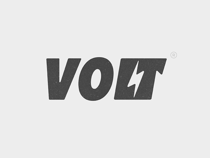 Volt Logo typography volt design type logo yp © yoga perdana