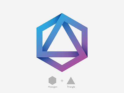 Hexagon + Triangle Logo