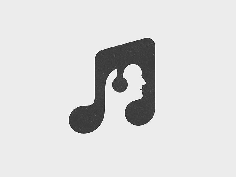music logos yoga examples cool exploration creative negative space perdana dribbble icon inspire designbolts mark graphic