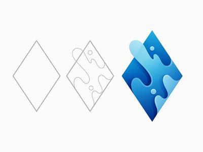 Diamond Steps Logo diamond logo yp © yoga perdana