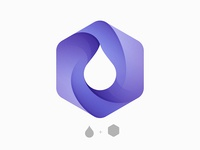 Drop + Hexagon Logo