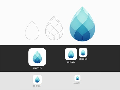 Drop Ios Icon icon app visual identity clean logo brand design graphic design identity logo vector symbol mark branding brand gradient logo modern logo simple logo logo design logo designer logo blue water drop