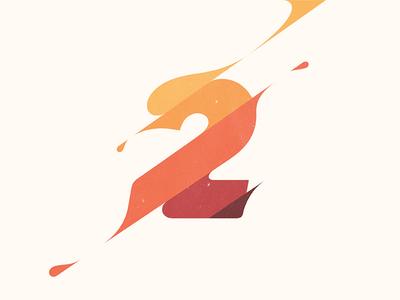 2 typography illustration logo branding number 2 yp © yoga perdana