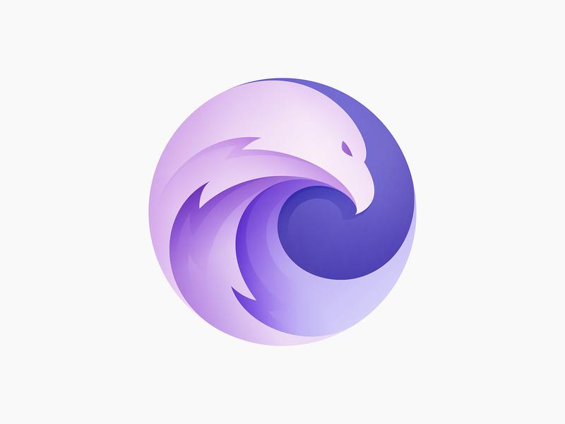 Eagle Logo bird vector illustration branding animal logo yp © yoga perdana