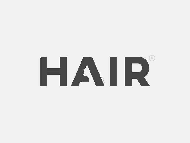 Hair Logo hair branding typography type logo © yoga perdana yp