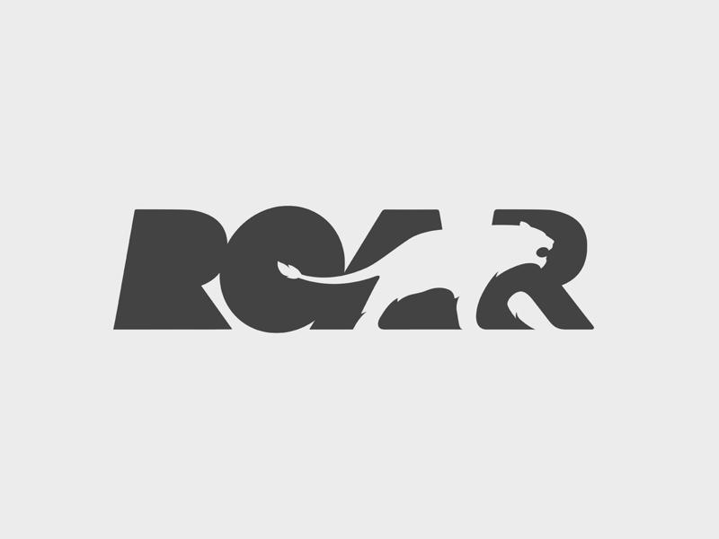 ROAR modern logo gestalt design gestalt lion design logo type smart logo logo designer logo design lion tiger