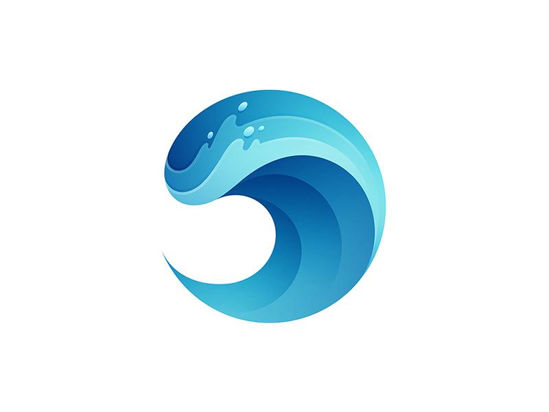 Wave logo design water beach wave icon vector branding illustration logo yp © yoga perdana