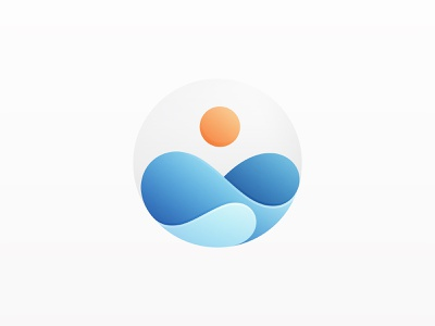 Sunrise sunrise sun icon vector branding wave illustration logo yp © yoga perdana