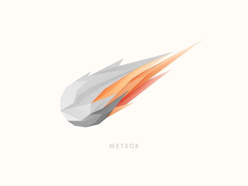 Meteor (old work) space meteor icon vector design branding illustration logo yp © yoga perdana