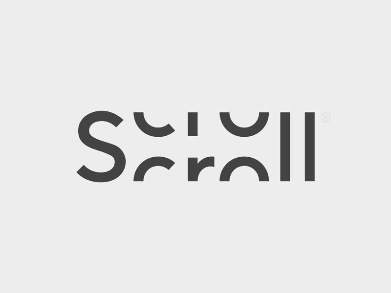 Scroll scroll typography design mark branding type logo © yoga perdana yp