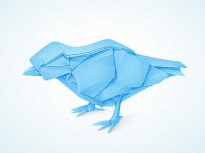 Bird Origami origami twitterbird twitter icon paper vector ai illustrator tweet © yoga perdana logo yp