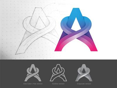 Assemblr Logo modern a visual identity clean logo brand design graphic design identity logo vector symbol mark brand gradient logo modern logo simple logo logo design logo designer typography type branding logo
