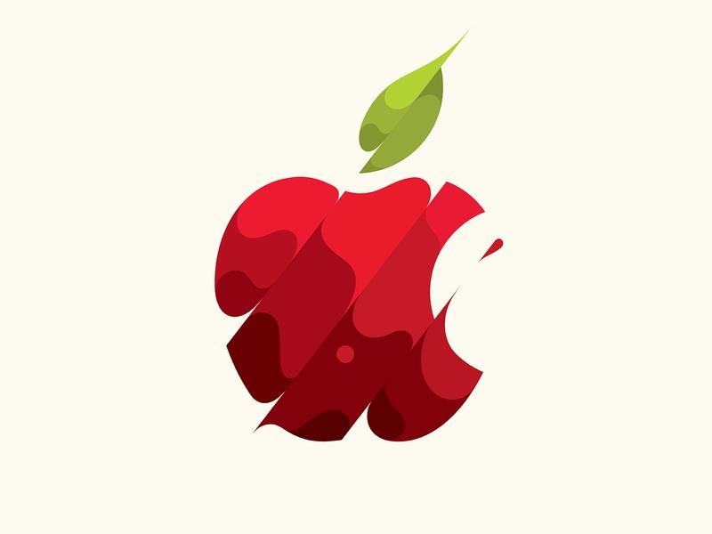 Apple apple design illustration logo © yoga perdana yp
