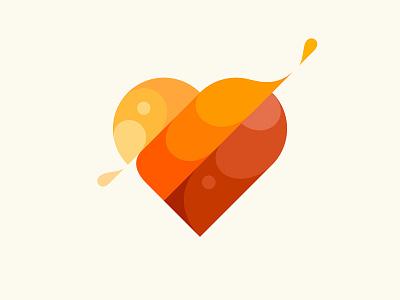 Heart love heart icon design branding vector illustration logo © yoga perdana yp