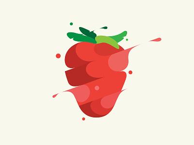 Strawberry design branding vector illustration © yoga perdana yp
