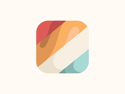 Ios Icon ios wave website flat vector logo web app ux ui design icon yp © yoga perdana