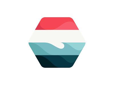Beach wave beach design vector illustration © yoga perdana yp