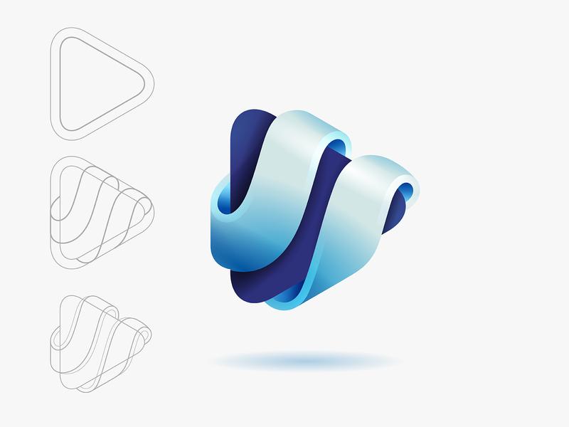 Shape Exploration design branding vector logo © yoga perdana yp