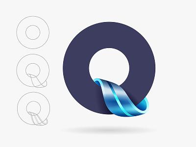 Q logo design icon branding type vector logo yp © yoga perdana
