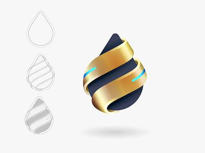 Drop design icon branding vector logo © yoga perdana yp