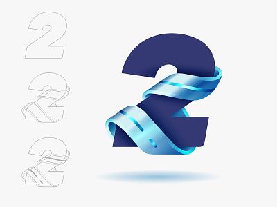 2 logo design icon type branding vector © yoga perdana yp