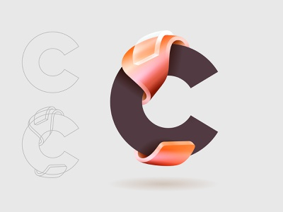 C design icon branding type vector logo © yoga perdana yp