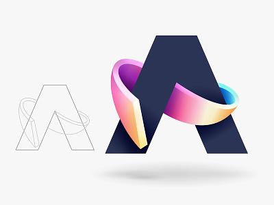 A branding type logo © yoga perdana yp