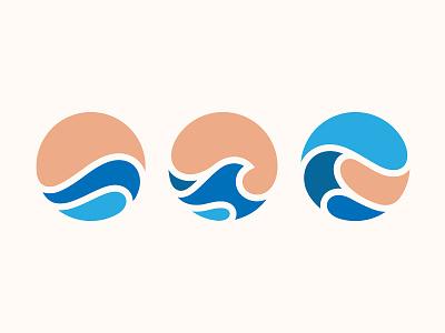 Waves wave illustration logo design icon branding yp © yoga perdana