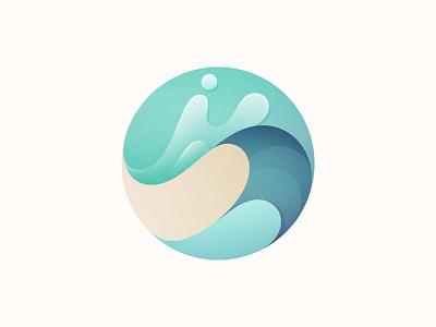 Wave app wave design icon branding vector illustration logo © yoga perdana yp