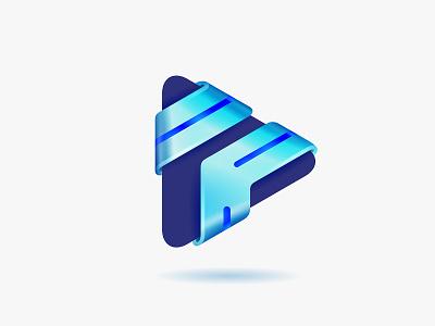 Play play app design icon vector logo © yoga perdana yp