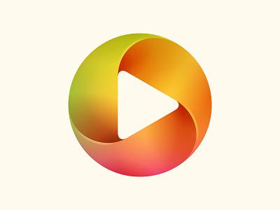 Player Logo app design branding icon logo © yoga perdana yp