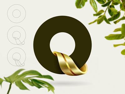 Q type typography design branding vector logo © yoga perdana yp