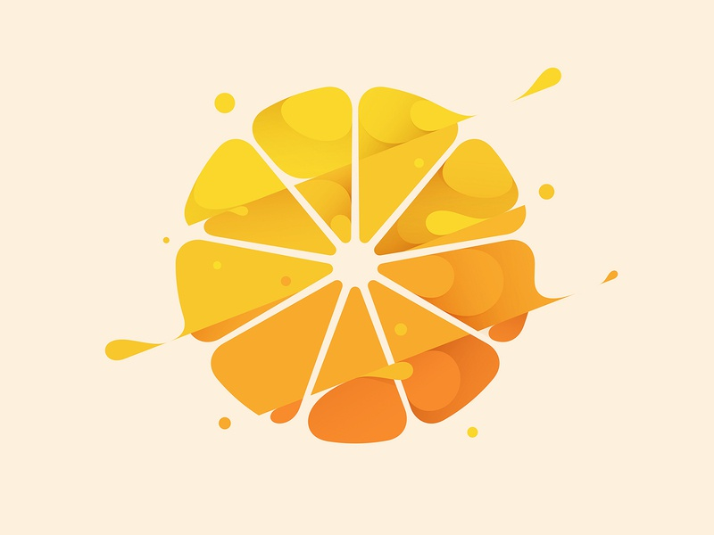 Orange spill liquid water slash splash flat design flat illustration orange branding logo fruit illustration