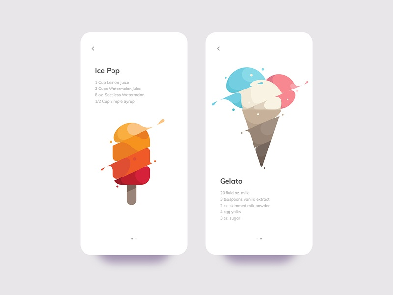 Ice Pop & Gelato Recipes branding spill liquid water slash splash flat design flat illustration yp mobile logo illustration gelato ice pop ice cream